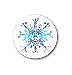 Blue neon snowflakes winter snowflakes hologram vector