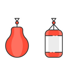 Boxing and punching bag vector