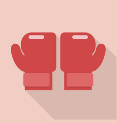 boxing gloves in flat style vector image