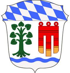 Coat of arms of lindau in swabia bavaria germany vector
