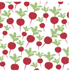 colorful background with pattern of beets with vector image
