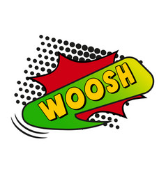 Comic lettering woosh on white background vector
