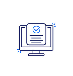 Compliance line icon on white art vector
