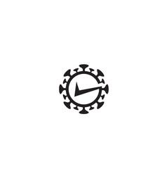 Creative covid-19 coronavirus check logo symbol vector