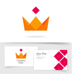 crown king royal icon logo or premium vector image