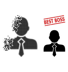 damaged pixel office man icon and textured best vector image