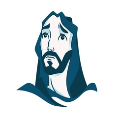 depicted jesus christ the founder of the vector image