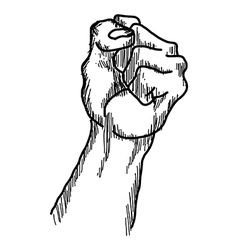 doodles of raised protest fist vector image