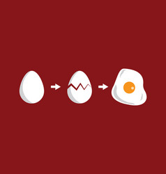 egg volution vector image