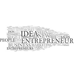 ego and the entrepreneur text background word vector image