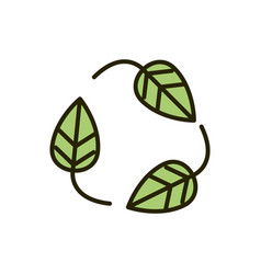 environment eco leaves nature drawing vector image