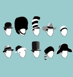 Famous hats vector