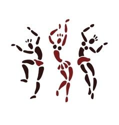 Figures of African dancers vector image