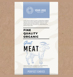 Fine quality organic goat abstract meat vector