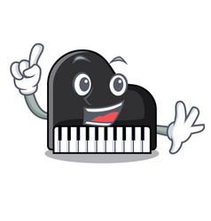 Finger piano mascot cartoon style vector
