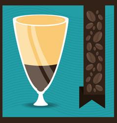 Flat mocha concept types coffee drinks vector