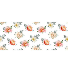 floral seamless rose flowers pattern background vector image