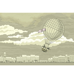 Flying Aerostat vector image