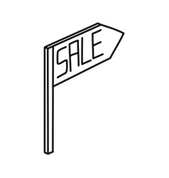 for sale icon doodle hand drawn or outline icon vector image