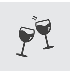 Glasses clink icon vector image