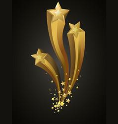 golden bright shiny stars vector image