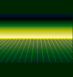 Green perspective grid 3d dimension concept vector