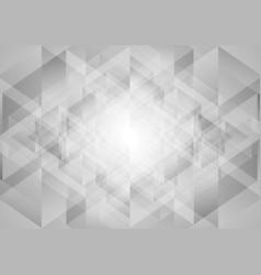 Grey abstract tech low poly triangles background vector