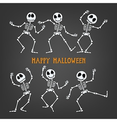 Halloween Skeleton vector image