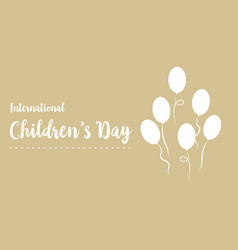 Happy childrens day design background vector