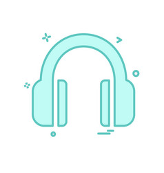Headphone icon design vector