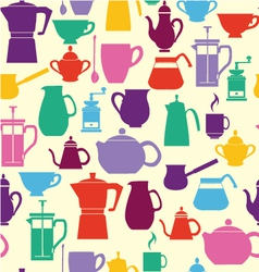 ilhouettes Coffee and Tea Pots vector image