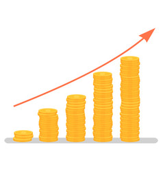 Investment growth graphic profit increase graph vector