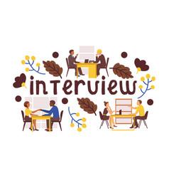 Job interview candidates vector