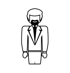 Man male father family outline vector