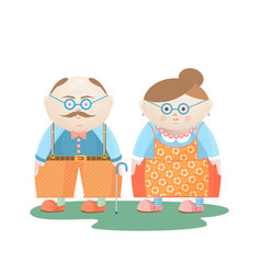 National grandparents day funny grandfather and vector