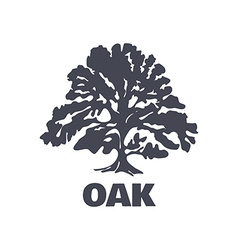 Oak Tree Logo Silhouette vector