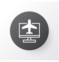 Online reservation icon symbol premium quality vector