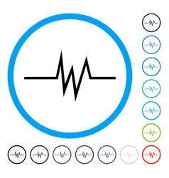 Pulse signal rounded icon vector