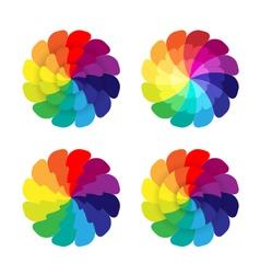 Rainbow flowers vector
