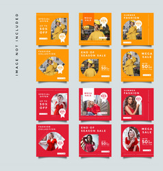 Red fashion social media promotion design vector