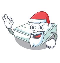 Santa mattress in cartoon on the shape vector