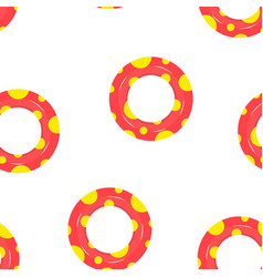 seamless pattern with lifebuoys vector image