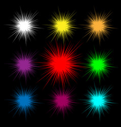 shining flare as orange abstract lines vector image