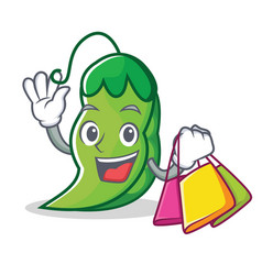 Shopping peas character cartoon style vector