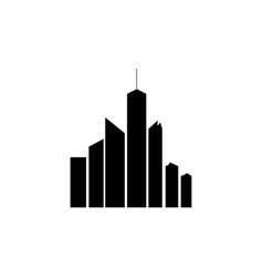 simple silhouette of skyscrapers vector image