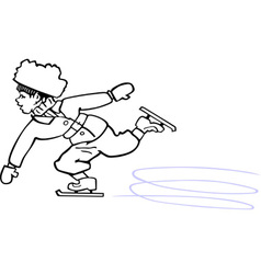 Skating boy vector image