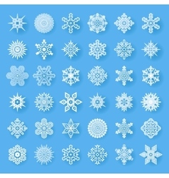 Snowflakes geometric abstract geometry cristmas vector