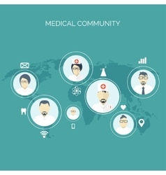 Social network Flat medical vector