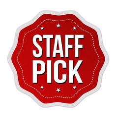 Staff pick label or sticker vector