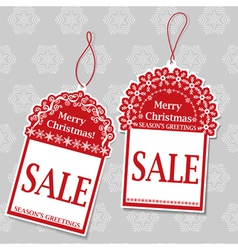 Two Christmas Sale Tags vector image
